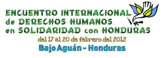 HONDURAS: Encuentro internacional de derechos humanos