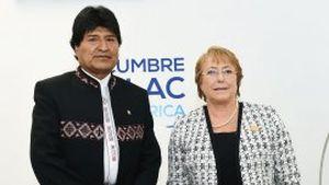 Evo Morales y Bachelet