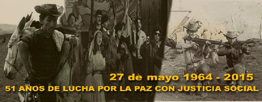 27 de mayo 1964-2015. 51 años de lucha por la paz con justicia social