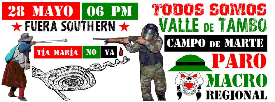 Todos somos Valle del Tambo ¡Tía María NO VA!
