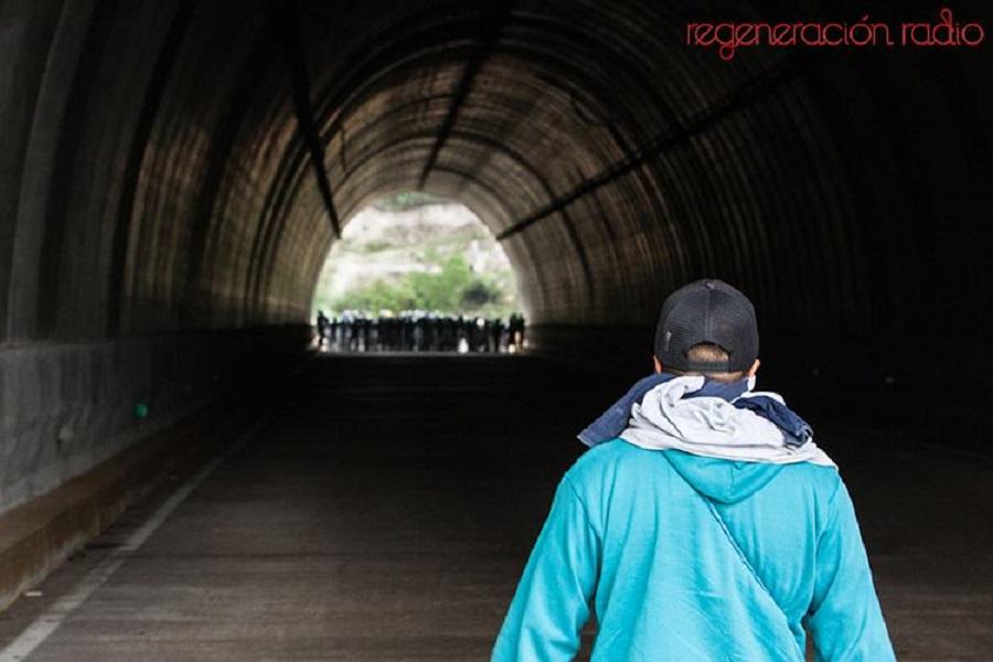 3 de junio al medio día en el túnel de Tixtla-Chilpancingo, en donde la policía federal rompió el diálogo y enfrento a normalistas y padres y madres de familia de Ayotzinapa.