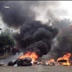 En Miahuatlán de Porfirio Díaz, Oaxaca la Policía Federal llega a la sede del INE
