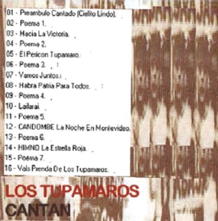canciones tupamaras - contratapa
