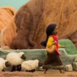 Doña Ubenza, por Mariana Carrizo, en lana, vellón y fieltro