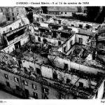 El Palacio arzobispal destruido