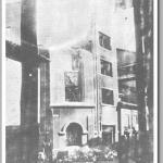 Centro obrero de Uviéu que albergaba los talleres de Avance, el diario socialista, incendiado por los bombardeos