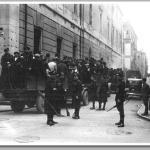 Conducción de presos en la Calle Jovellanos de Xixón