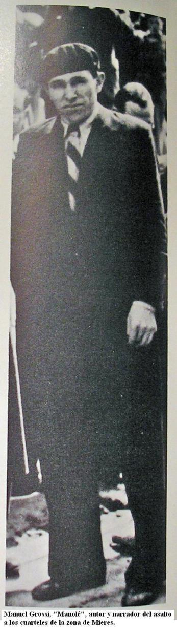 Manolo Grossi Mier, presidente del Comité Revolucionario de Mieres