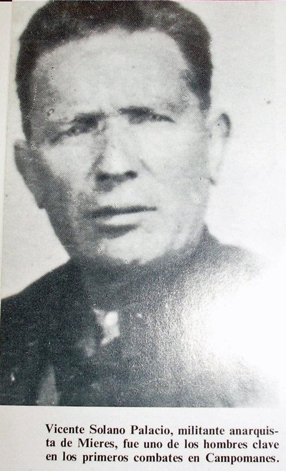 Vicente Solano Palacio, anarquista de Mieres