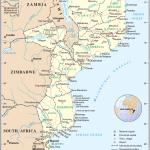 Moçambique, mapa
