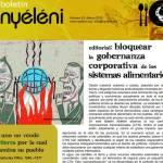 Boletín Nyéléni N° 25 marzo 2016. Bloquear la gobernanza corporativa de los sistemas alimentarios.
