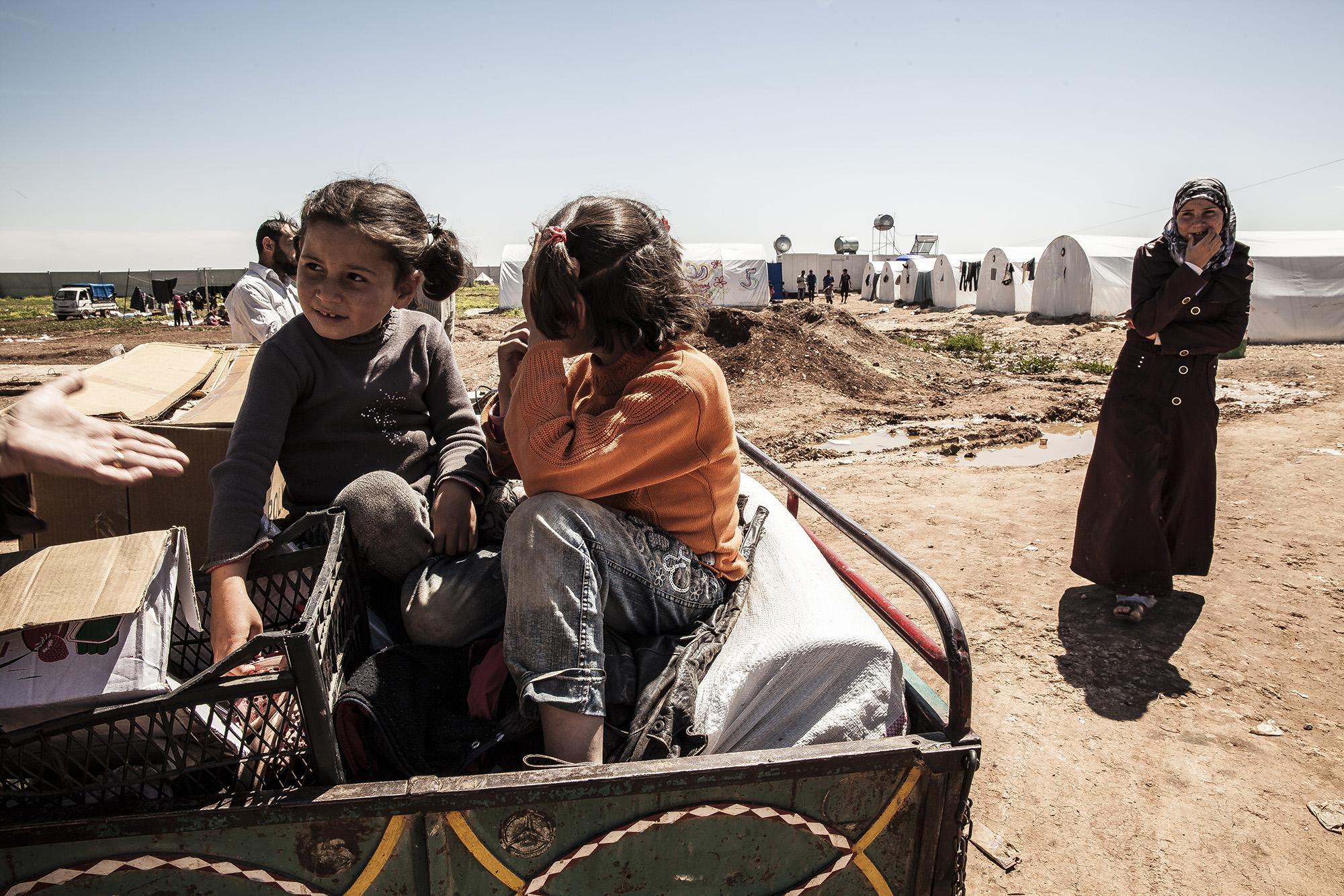 Campo de desplazados sirios cerca de la frontera con Turquía, 24-04-2013. Foto Anna Surinyach