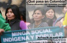 ¿Qué pasa en Colombia? Charra-alcuentru con activistes refuxaos n'Asturies
