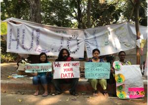 estudiantes de pueblos originarios en huelga